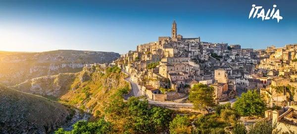 Matera alba - Basilicata - ©bluejayphoto_iStock_GettyImages-477188142 logo Italia comprimiert
