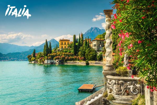 Varenna, Lago di Como - Lombardia ©Janoka82_iStock_GettyImages-908964390 mit Logo Italia
